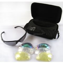 Deluxe Ballistic Glasses for Airsoft use with 4 Varied Colour Lenses